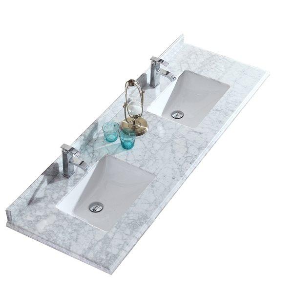 Bathroom Vanity Countertop 73 In Carrara Marble