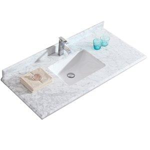 GEF Bathroom Vanity Countertop, 49-in Carrara Marble