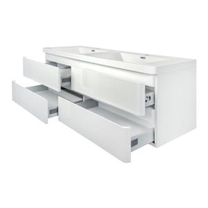 GEF Scarlett Vanity with Acrylic Top, 60-in White