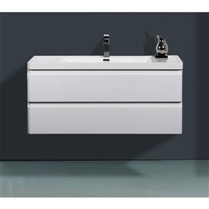 GEF Scarlett Vanity with Acrylic Top, 48-in White