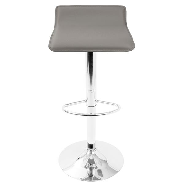 Prime Lumisource Grey Ale Adjustable Contemporary Bar Stool Set Alphanode Cool Chair Designs And Ideas Alphanodeonline