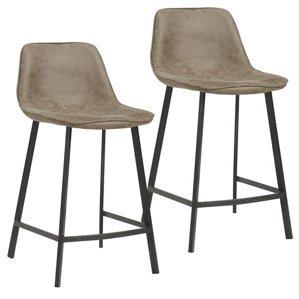 Prime Worldwide Home Furnishings Vintage Brown Faux Suede Metal Gmtry Best Dining Table And Chair Ideas Images Gmtryco