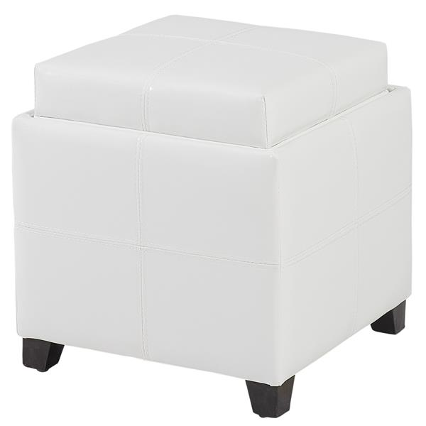 Swell Worldwide Home Furnishings White Storage Cube With Ibusinesslaw Wood Chair Design Ideas Ibusinesslaworg