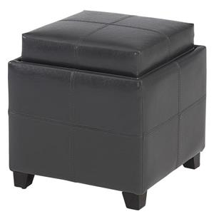Worldwide Home Furnishings Storage Cube Grey  with Reversible Tray