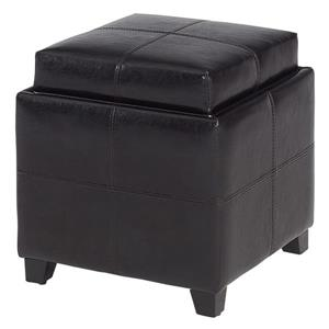 Worldwide Home Furnishings Storage Cube Brown with Reversible Tray