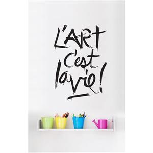 ADzif Wall Decal with French Text - White and Black