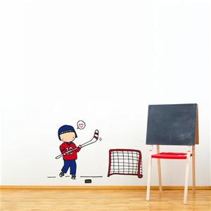 ADzif Piccolo Hockey Player Wall Decal