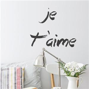 "ADzif Text Wall Decal - ""Je t'aime"" - 1.8' x 1.7'"