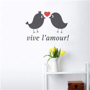 "ADzif Text Wall Decal - ""Vive l'amour"" - 1.5' x 1'"