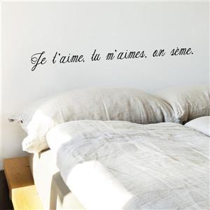 "ADzif Text Wall Decal - ""On sème"" - 3.8' x 0.4'"