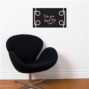 ADzif Black Liana Chalkboard Wall Decal - 1.8' x 1.1'