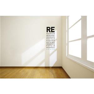 ADzif Text Wall Decal - Renew - 0.8' x 2.1'