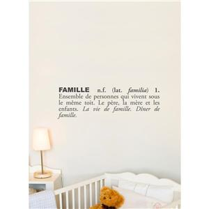 ADzif Text Wall Decal - Family - 2.5' x 0.8'