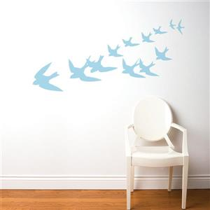 ADzif Freedom Wall Decal - 5.9' x 2.3' - Powder Blue