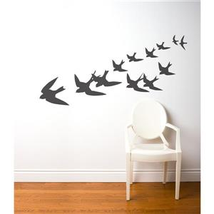 ADzif Freedom Wall Decal - 5.9' x 2.3' - Charcoal