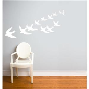 ADzif Freedom Wall Decal - 5.9' x 2.3' - White