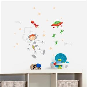 ADzif Journey into the Space Wall Decal - 3.3' x 2.8'