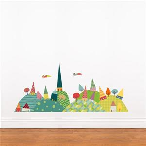 ADzif Christmas Wall Decal - Journey in Contryside -3.7' x 1.6'