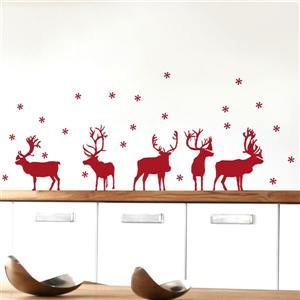 ADzif Christmas Wall Decal - Reindeer - 4.1' x 1.4'