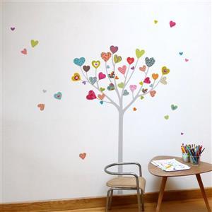 ADzif Heart Tree Wall Decal - 5.5' x 5.6'