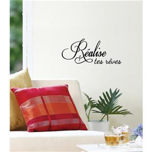 """ADzif Text Wall Decal - """"Dreams come true"""" - 1.1' x 0.6'"""