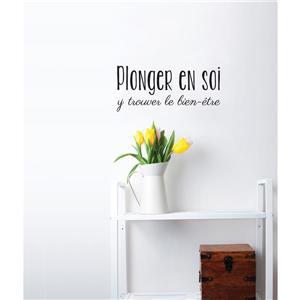 """ADzif Text Wall Decal - """"Plonger en soi""""  - 1.1' x 0.5'"""