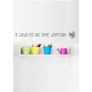 "ADzif Text Wall Decal - ""Le Bordel""  - 2.4' x 0.3'"