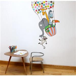 ADzif Balloon Ride Wall Decal for Kids - 4.1' x 2.6'
