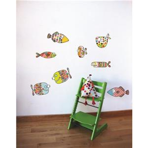 ADzif Big Fishes Wall Decal for Kids - 2.1' x 3.1'