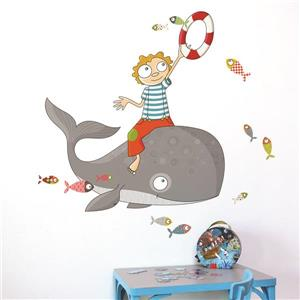 ADzif Flying Fish Wall Decal for Kids - 3.6' x 3.8'