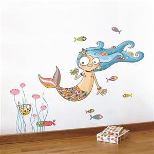 ADzif The Mermaid Wall Decal for Kids - 3.6' x 3.3'