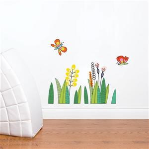 ADzif Butterflies in the Grass Wall Decal for Kids - 1.8' x 2.3'