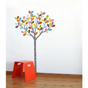 ADzif Colours in the Woods Wall Decal for Kids - 4.8' x 3.3'