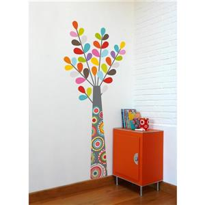 ADzif Colourful Tree Wall Decal for Kids - 5.4' x 2.3'