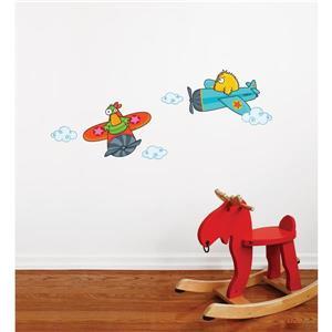 ADzif Quackety Flight Wall Decal for Kids - 1.4' x 3.4'
