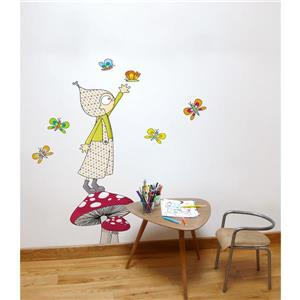 ADzif Jules 4.8- in x 4.8- in Wall Decal for Kids