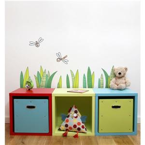 ADzif Grass 1.7-in x 3-in Wall Decal for Kids
