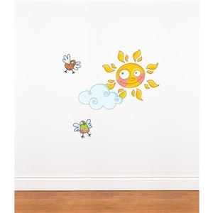 ADzif 1.8-ft x 2.6-ft Sun Wall Decal For Kids