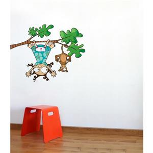 ADzif Lou and Kiki Wall Decal for Kids - 3.2' x 3.6'