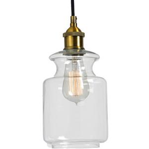Notre Dame Design Noster Pendant - Clear Glass/Antique Brass