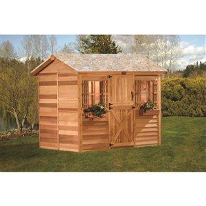 Cedarshed Cabana 12-ft x 8-ft Cedar Storage Shed