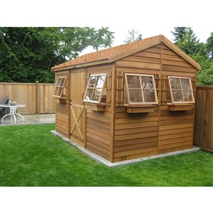 Cedarshed 9-ft x 6-ft CedarBeachHouse Storage Shed