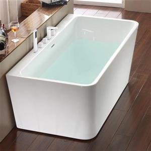 Jade Bath Vermont 67-in White One Piece Freestanding Tub