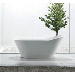 Jade Bath Zoe 59-in White One Piece Freestanding Tub