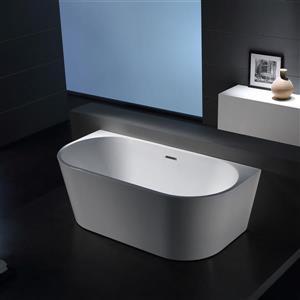 Jade Bath Sao Paolo 67-in White One Piece Freestanding Tub