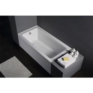 Jade Bath Zen 60-in White Alcove Tub with Left Drain