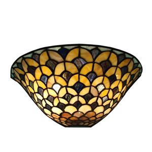 Fine Art Lighting Ltd. Tiffany-Style 8-in x 16-in x 5.75-in 2 Light Vintage Bronze Wall Sconce