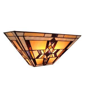 Fine Art Lighting Ltd. Tiffany-Style 5.5-in x 16-in x 7-in 2 Light Vintage Bronze Wall Sconce