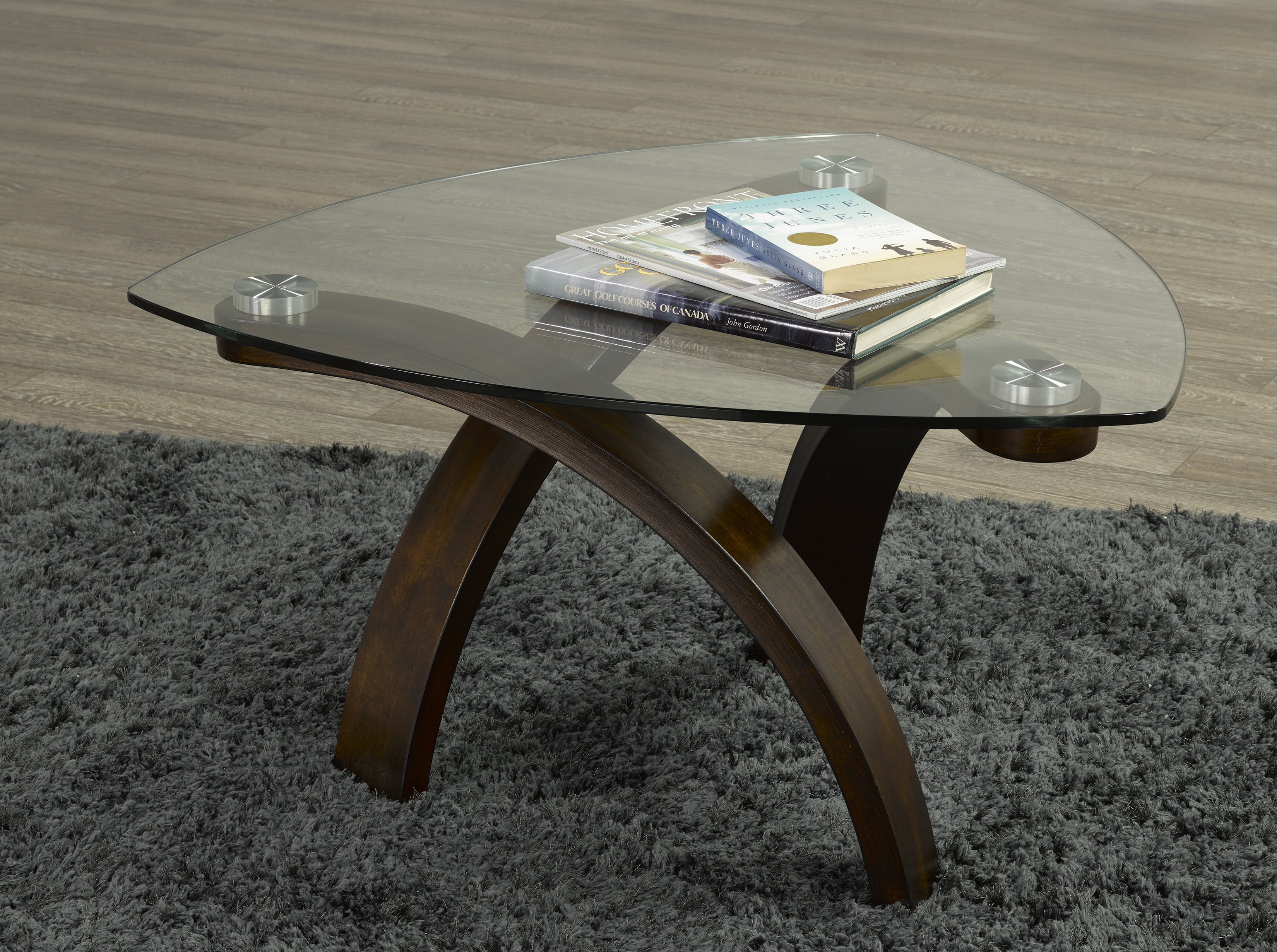 Picture of: Brassex Tegan 34 25 In X 34 25 In X 19 In With Espresso Wood Frame And Glass Top Coffee Table Lowe S Canada