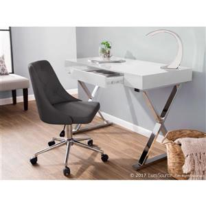 Lumisource Luster 21.75-in x 43.25-in x 26-in White Wood Desk